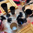 Plumes de décoration noires