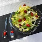 Set couverts salade transparent. Recyclable. Réutilisable.