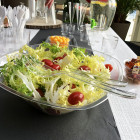 Set couverts salade transparent. Recyclable. Réutilisable.