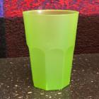 Verre cocktail en plastique vert anis 42 cl