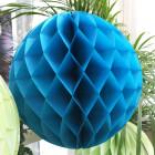 Boule décorative en papier turquoise 30 cm