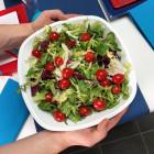 Saladier blanc 3 litres. Recyclable. Réutilisable. Par 3