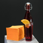 "Serviettes ""Cocktail"" Mandarine 20 x 20cm"