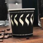 Gobelet carton décor noir et blanc 12 cl