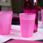 Verre cocktail en plastique fuschia 42 cl