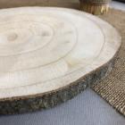 Rondin bois centre de table 24 cm