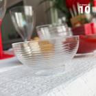 Mini-coupelle en plastique design transparente 6 cl