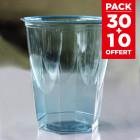 Pack 50 verres opaline turquoise 25 cl + 10 Gratuits