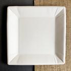 Assiette carton carrée 23cm. Biodégradable. Par 20