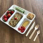 Plateau repas Bio fibres végétales 5 compartiments
