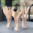 Set de 30 couverts ivoire. Recyclables - Réutilisables. 3x10