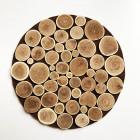 Centre de table rond bois naturel 30 cm