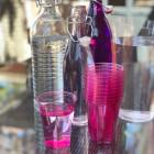 Verre en plastique opaline rose fuschia 25 cl