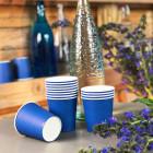 Gobelet carton bleu marine 21cl. Recyclable. Par 25