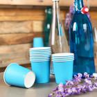 Gobelet carton turquoise 21cl. Recyclable. Par 25