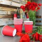 Gobelet carton rouge 21cl. Recyclable. Par 25