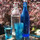 Verre en plastique opaline turquoise 25 cl