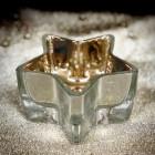 Photophore étoile métallisé or-argent 10 cm