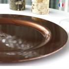 Assiette ronde chocolat. Recyclable - Réutilisable. Par 12