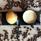 Tasse et vague à café gourmand noir. Recyclable. Réutilisable. Par 20