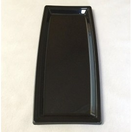 Plateau plastique rectangulaire long noir