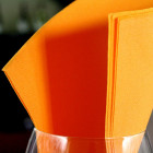 1440 Serviettes mandarine 38x38cm Recyclables -Réutilisables