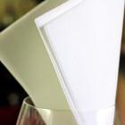 1440 Serviettes blanches 38cmx38cm Soft 2 plis