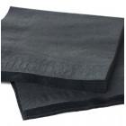 1800 Mini-serviettes 20cmx20cm noires