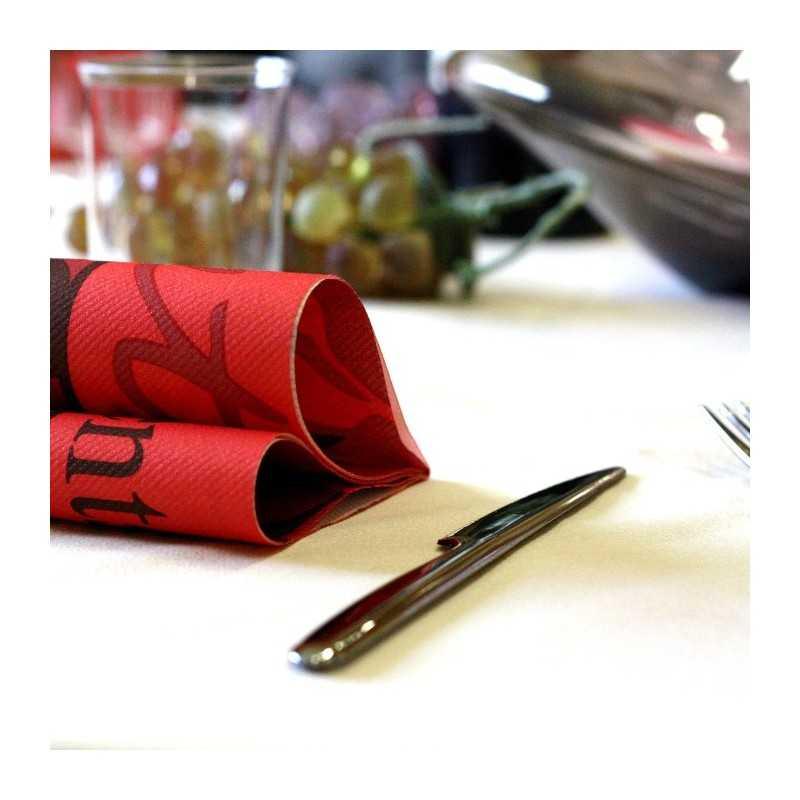 Nappes en non-tissé blanche ronde 240 cm - Vaisselle Jetable Discount