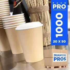 1000 Gobelets carton Kraft Recyclables 35 cl