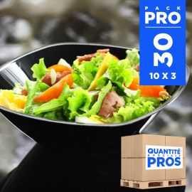 30 Saladiers noirs Recyclables - réutilisables