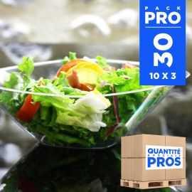 30 Saladiers cristal 3 litres Recyclables réutilisables