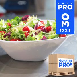 30 Saladiers blancs Recyclables -réutilisables