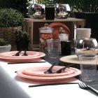 300 Assiettes rondes 23cm Fibre biodégradable orange macaron