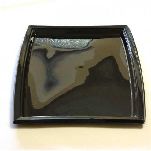 Plateau plastique rectangulaire noir grand modèle