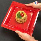 240 Assiettes 16,5 rouge Recyclables - Réutilisables