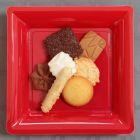 180 Assiettes 21,5 rouges Recyclables - réutilisables