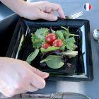 240 Assiettes 16,5 noir Recyclables- Réutilisables