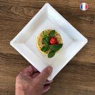 180 Assiettes 21,5 blanc Recyclables - Réutilisables
