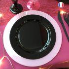 132 Assiettes luxe 24 cm Recyclables réutilisables Noires