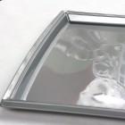 Plateau plastique rectangulaire gris grand modèle