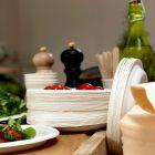 1000 Assiettes rondes 17cm Fibre biodégradable blanche