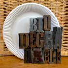 1000 Assiettes carton 23 cm Biodégradables Blanches