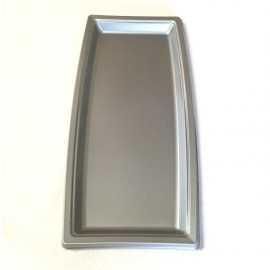 Plateau plastique rectangulaire gris
