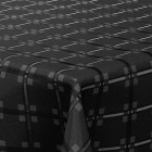 Nappe en papier damassé noire. 25 mètres
