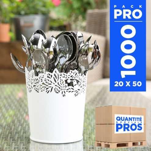 1000 Cuillères dessert type inox. Recyclables - réutilisables.