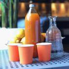 Gobelet carton mandarine 21cl. Recyclable. Par 25