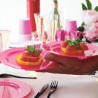 Assiette ronde rose magenta. Recyclable -Réutilisable. Par 12