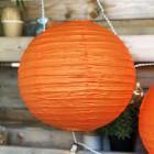 Lanterne en papier orange 30 cm