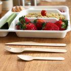 fourchette bois biodégradable 16 cm. Par 100
